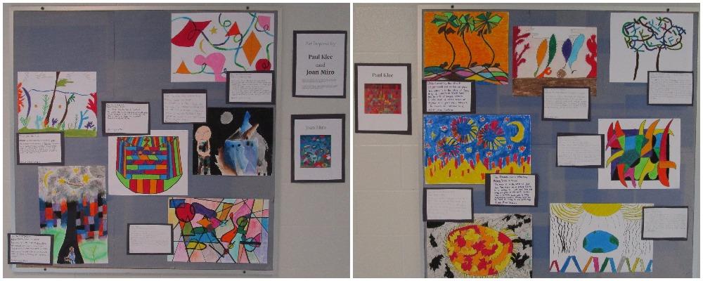 Gr 8 Miro & Klee Art